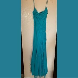 Teal long prom dress / gown
